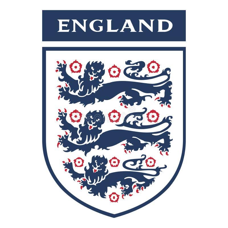 Editorial - England Football Association logo. The Football Association is the governing body of association football in England, the Crown dependencies of stock illustration