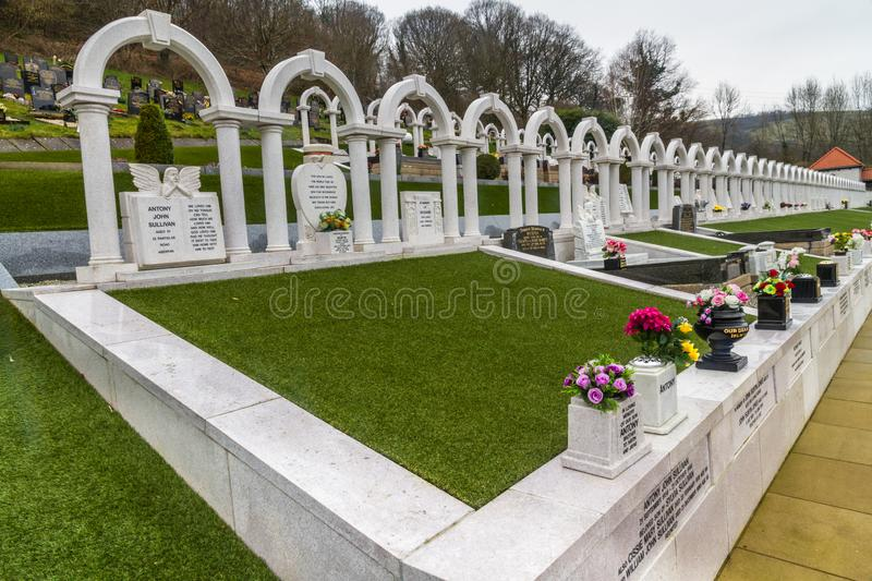 Editorial, Graves of victims of the Aberfan Disaster royalty free stock images