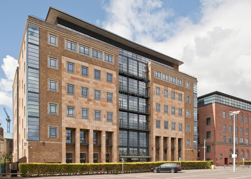 Editorial image of office building in Newcastle Upon Tyne, UK royalty free stock photo