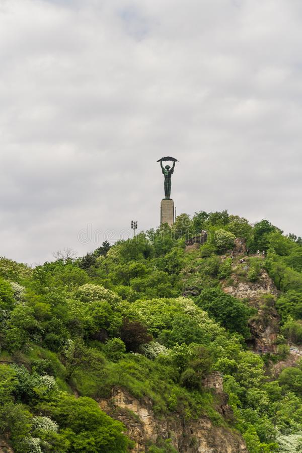 Editorial, Liberty or Freedom Statue in Budapest, Hungary royalty free stock photography