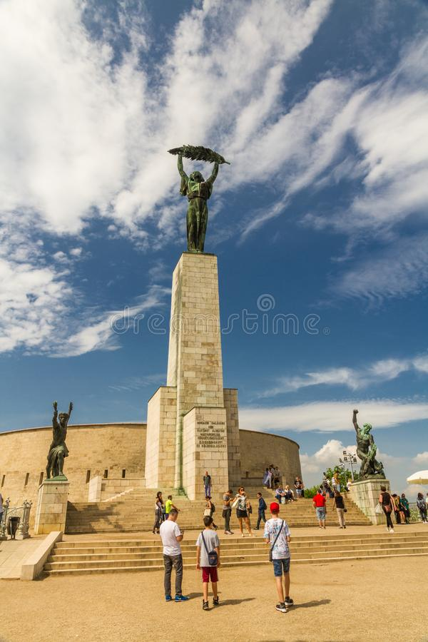 Editorial, Liberty or Freedom Statue in Budapest, Hungary royalty free stock photos