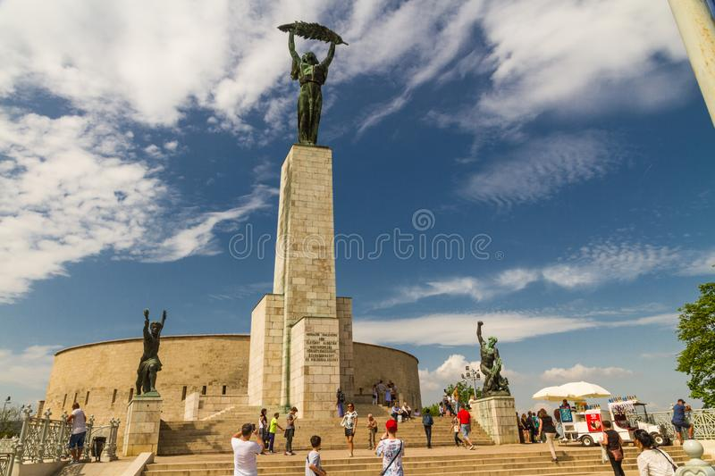 Editorial, Liberty or Freedom Statue in Budapest, Hungary stock photo