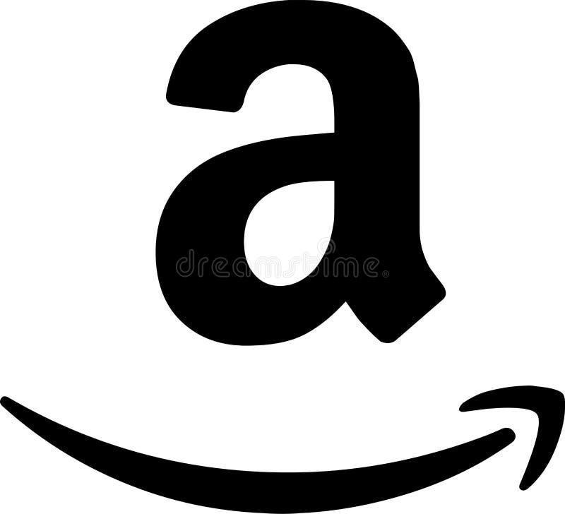 Editorial - logotipo del vector del icono del Amazonas libre illustration