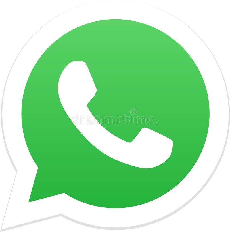 Editorial - logotipo do ícone de Whatsapp ilustração do vetor