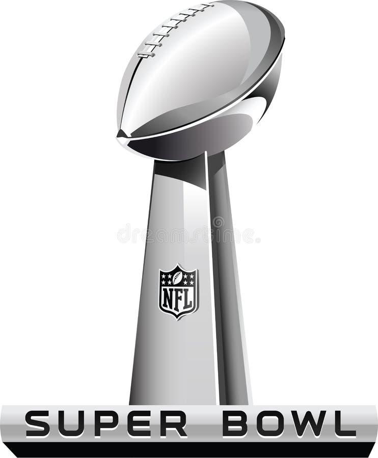 Editorial: Logotipo genérico do Super Bowl ilustração stock