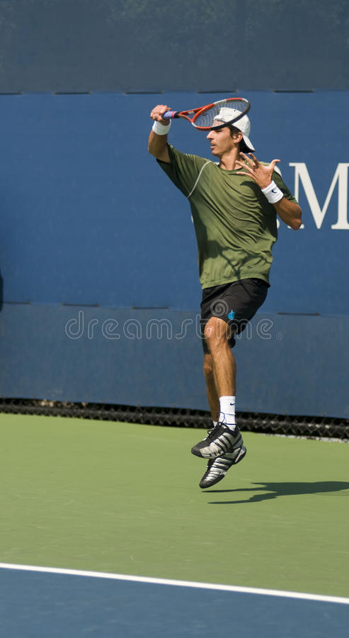 Download Editorial Luigi D'agord Forehand Us Open 2009 Editorial Stock Image - Image of jumping, editorial: 10695154