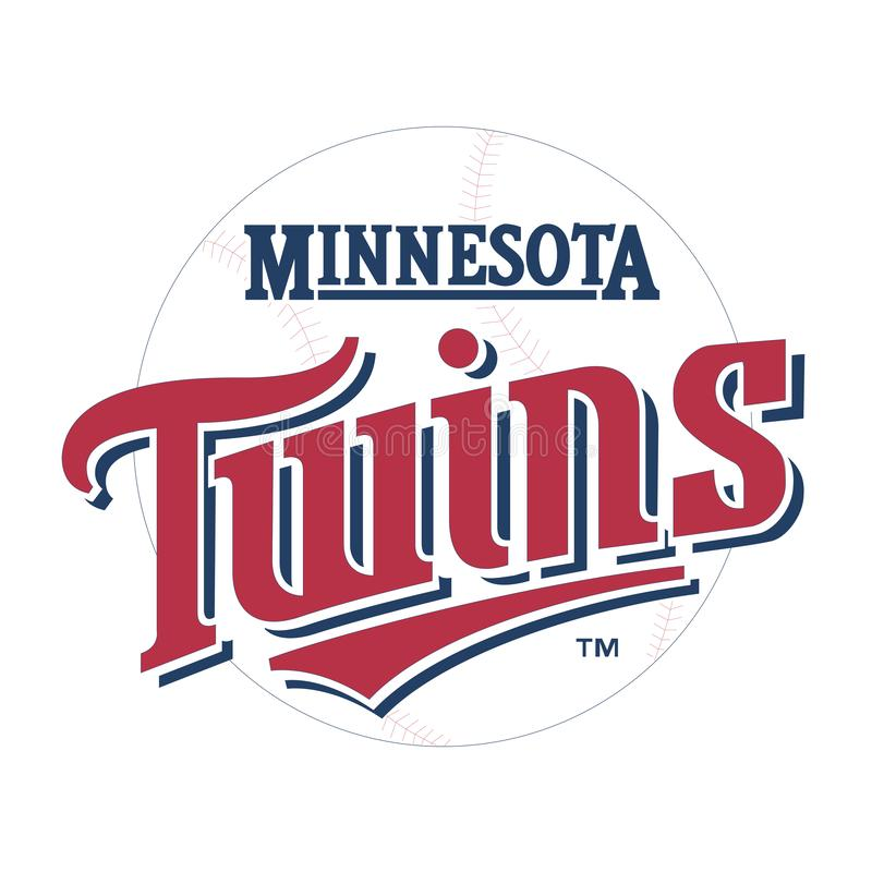 Editorial - Minnesota Twins de MLB ilustração royalty free