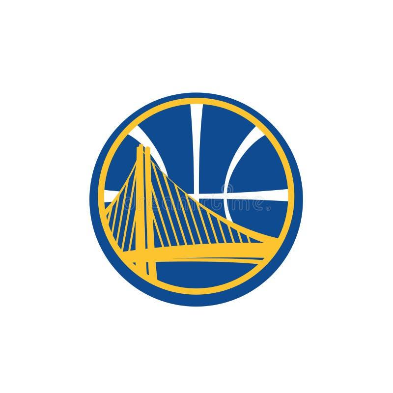 Editorial - NBA de Golden State Warriors ilustração royalty free