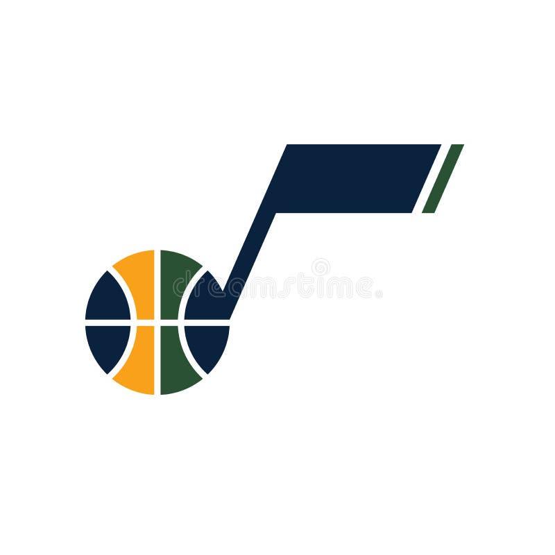 Editorial - NBA de Utah Jazz ilustración del vector