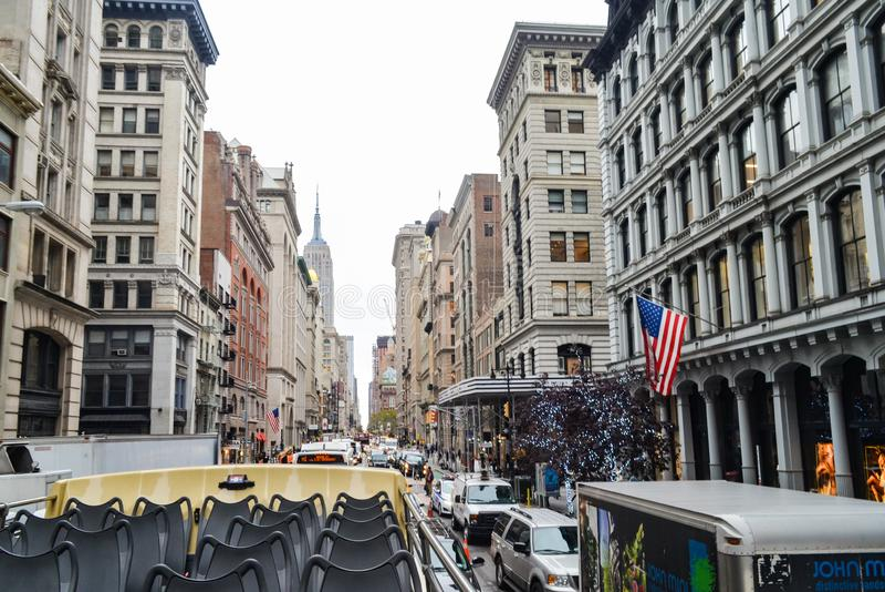 Editorial: New York City, New York / USA, 7th November 2017. People in New York City stock photo