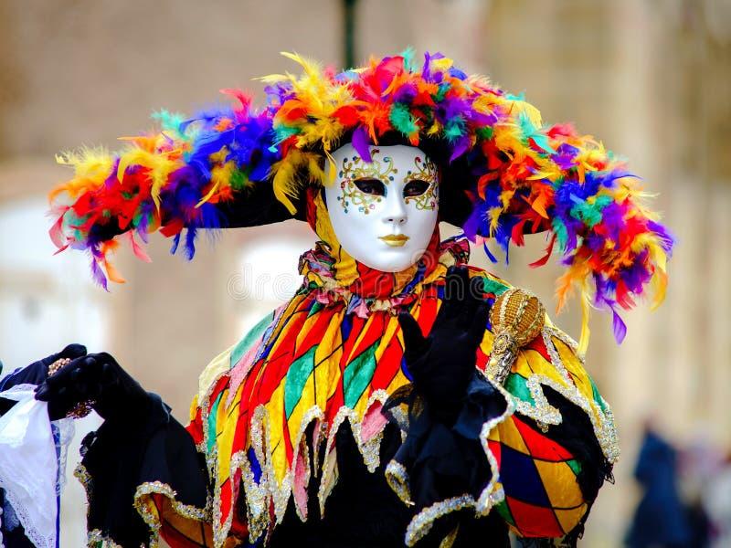 Editorial, o 6 de março de 2016: Rosheim, França: Máscara Venetian do carnaval imagens de stock royalty free