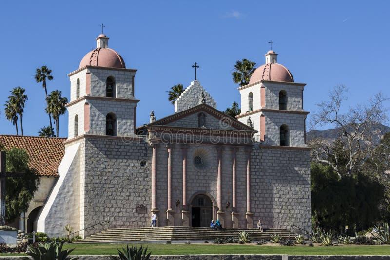 Historic Santa Barbara Mission in Southern California stock photo