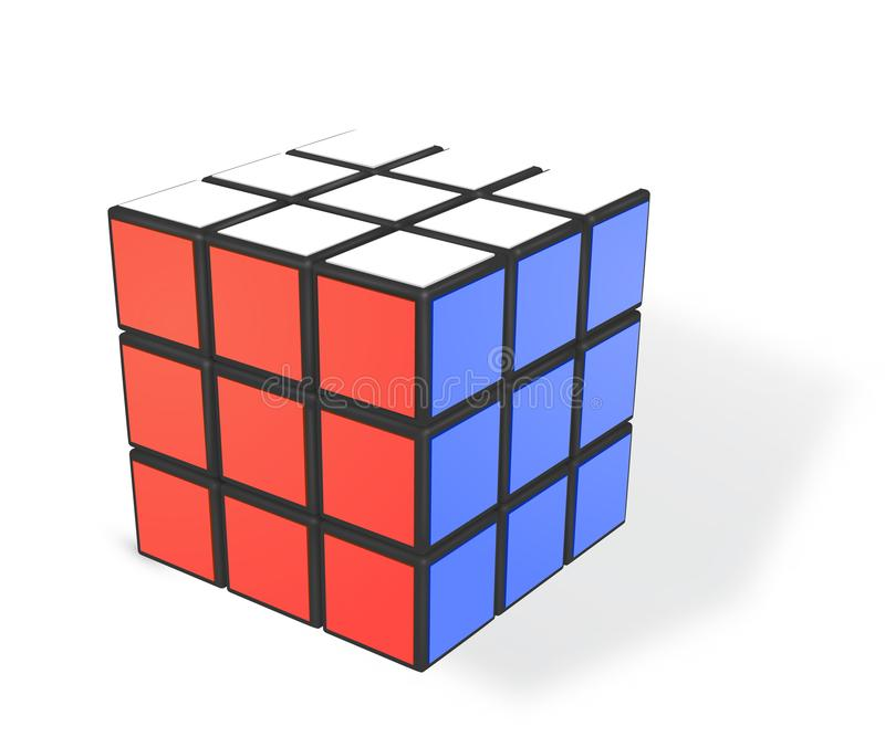 Editorial realistic vector illustration of Rubik s cube. vector illustration