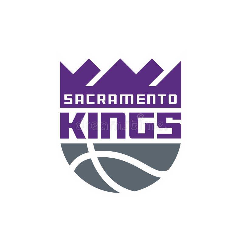 Editorial - reis NBA de Sacramento ilustração royalty free