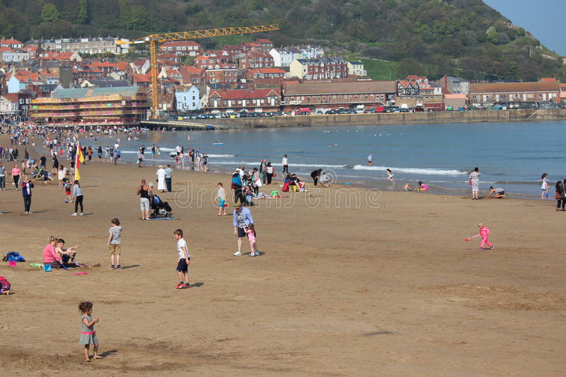 EDITORIAL: SCARBOROUGH BEACH, YORKSHIRE, ENGLAND: SUNDAY 8TH MAY 2016. stock image