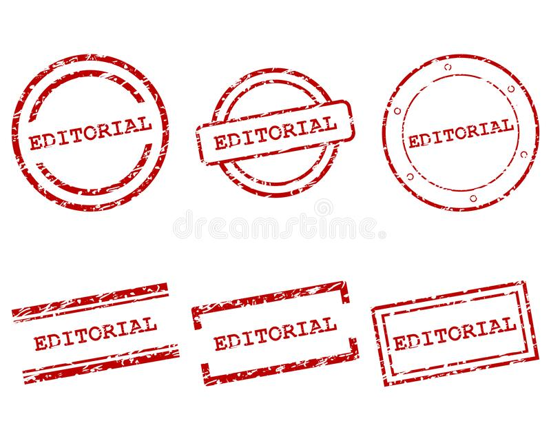Editorial stamps. As vector illustration stock illustration
