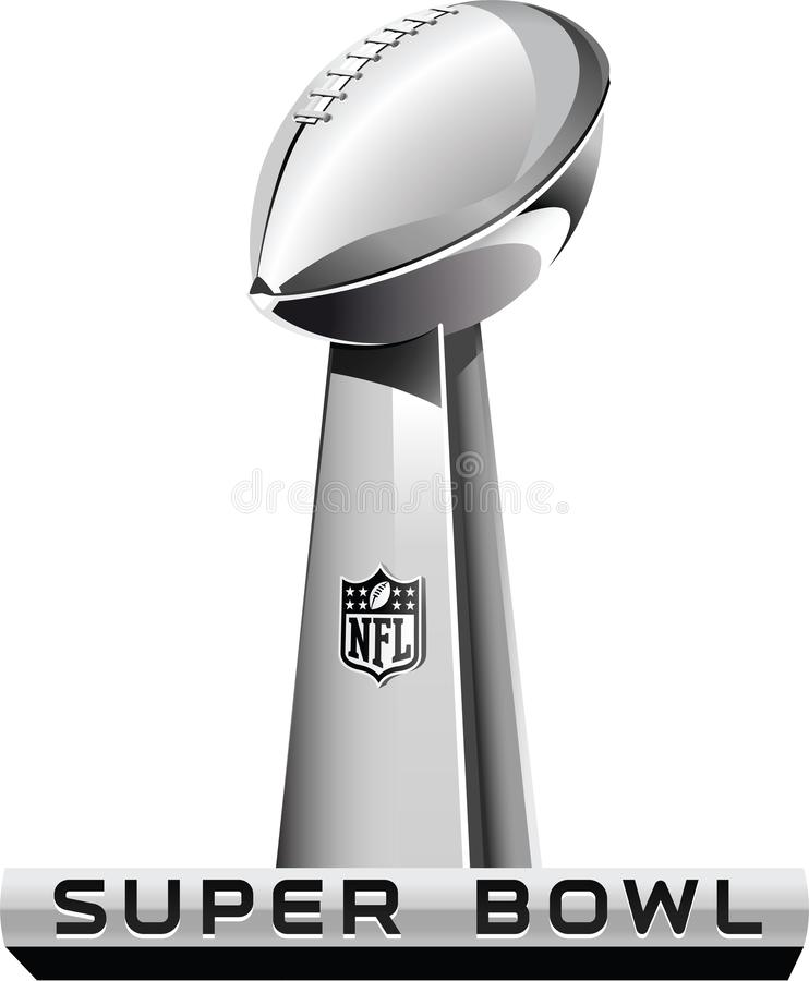 Editorial: Super bowl generic logo. The Super Bowl is the annual championship game of the National Football League where the champion of the National Football stock illustration