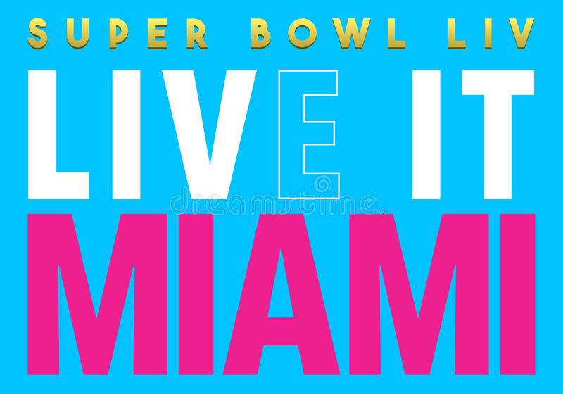 Editorial: Super bowl 2020 live it miami. The Super Bowl is the annual championship game of the National Football League where the champion of the National vector illustration