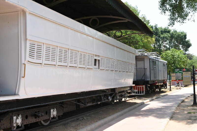 Editorial: 16th May 2015: New Delhi, India, National Rail Museum: Museum hosts rail engines & cabins from rich history of India. A must see in Delhi stock photos
