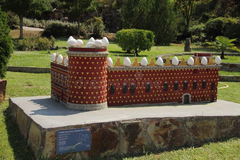 Spain, Catalunya en Miniatura park, august 2018. Editorial usage. Spain, Catalunya en Miniatura park, august 2018 royalty free stock image