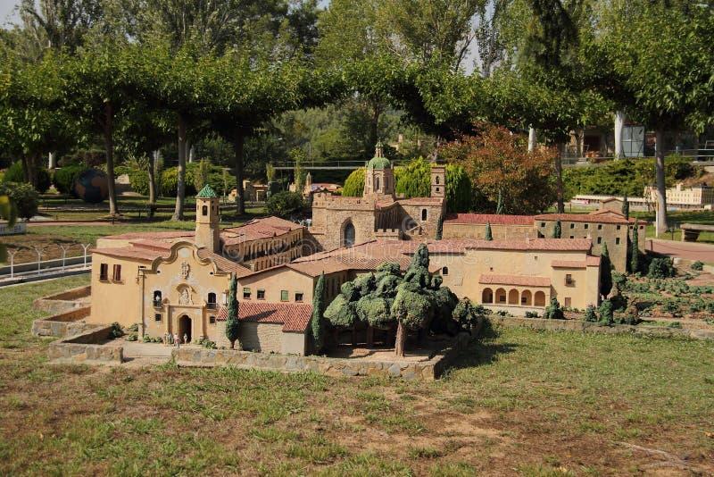 Spain, Catalunya en Miniatura park, august 2018. Editorial usage. Spain, Catalunya en Miniatura park, august 2018 royalty free stock images
