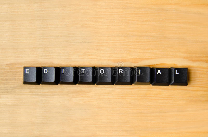 Editorial word. With keyboard buttons royalty free stock photo