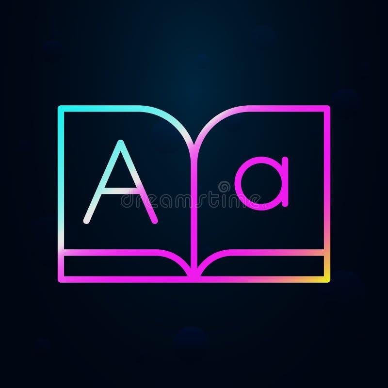 editoriale, font, libro nolan icon Linea sottile semplice, vettore di struttura delle icone di progettazione editoriale per ui e  royalty illustrazione gratis