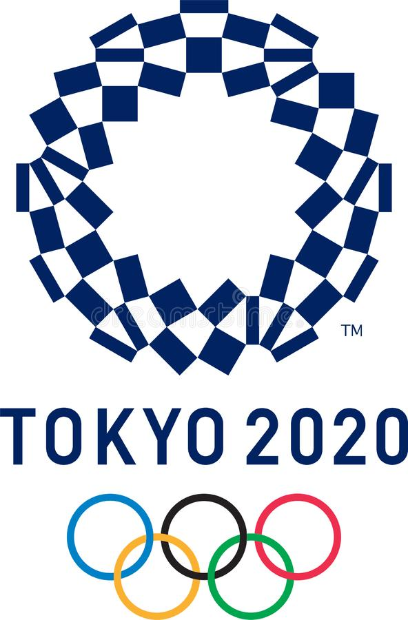 Editoriale - un logo di 2020 Olympics di estate royalty illustrazione gratis