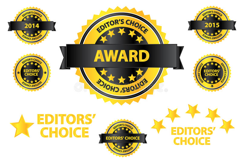 Editors Choice Quality Product Badges royalty free stock image