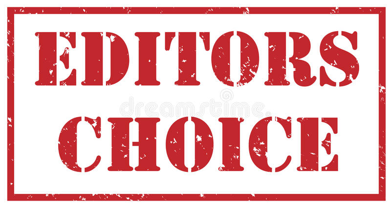 Editors choice red stamp vector illustration