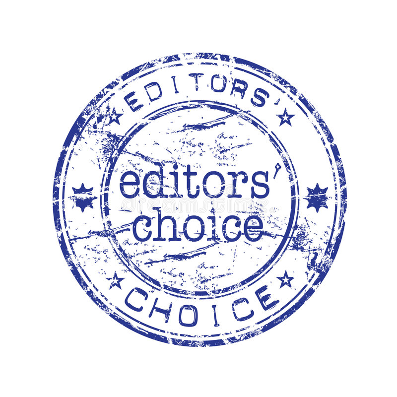 Editors choice rubber stamp royalty free illustration