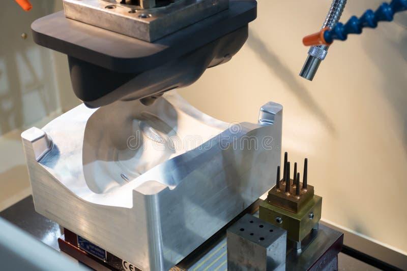 EDM Przemysłowy maszynowy działanie z coolant zastrzykiem w fabryce obraz stock