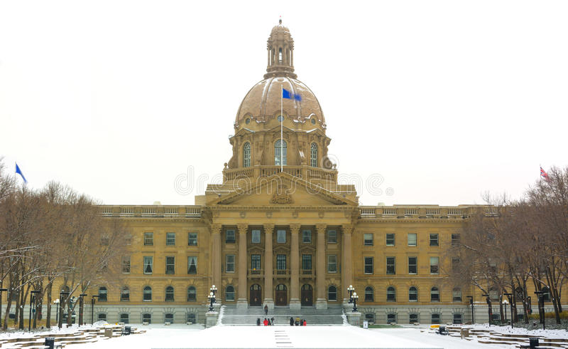 Edmonton, AB, Canadá 8 de novembro de 2014: Buildi da legislatura de Alberta imagem de stock
