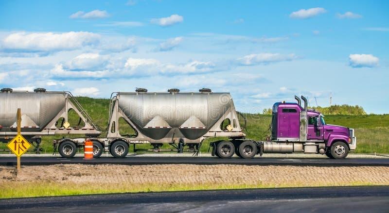 Edmonton Alberta Canada Truck on the highway. Edmonton Alberta Canada June 26, 2018 Truck on the highway royalty free stock image