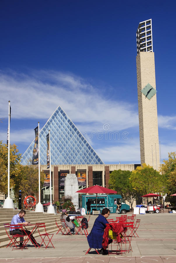 EDMONTON, CANADA - SEPTEMBER 13, 2016: Edmonton s City Hall on 1. 3 September 2016 in Edmonton, Canada. City Hall it was designed by Dub Architects, the building royalty free stock images