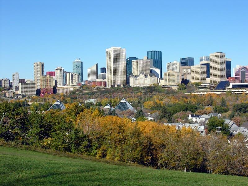 Edmonton in Daling stock fotografie
