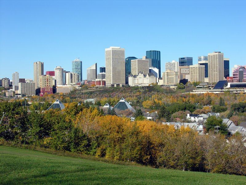 Edmonton dans l'automne photographie stock