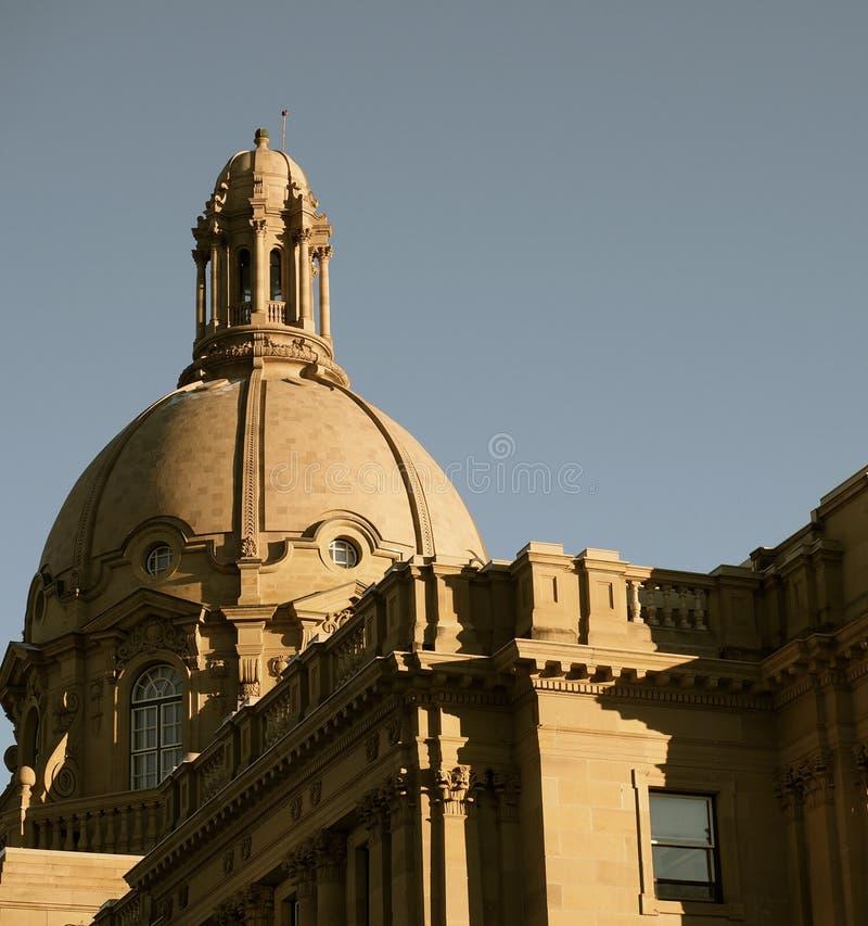 Edmonton de construction législatif, Alberta images stock