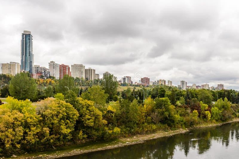 Edmonton del río imágenes de archivo libres de regalías