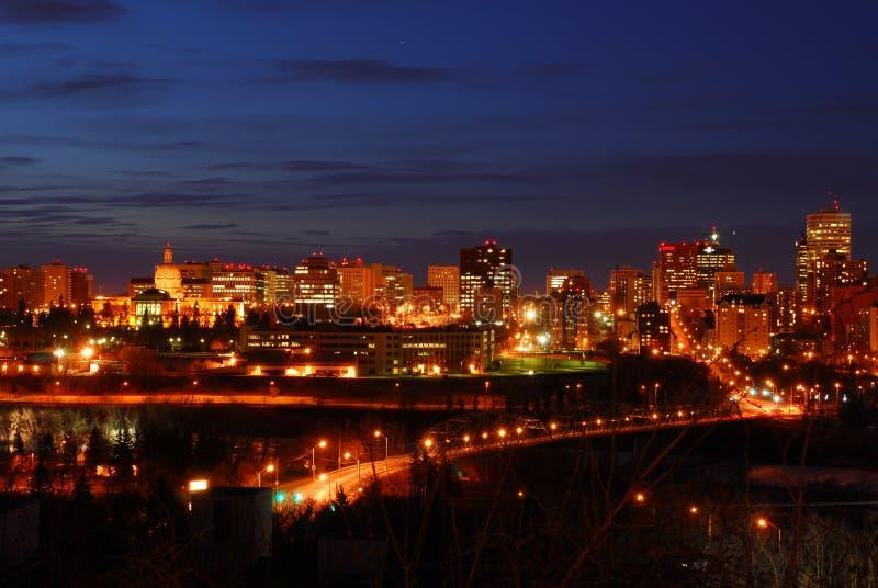 Download Edmonton Downtown Night Scene Stock Image - Image: 4765111