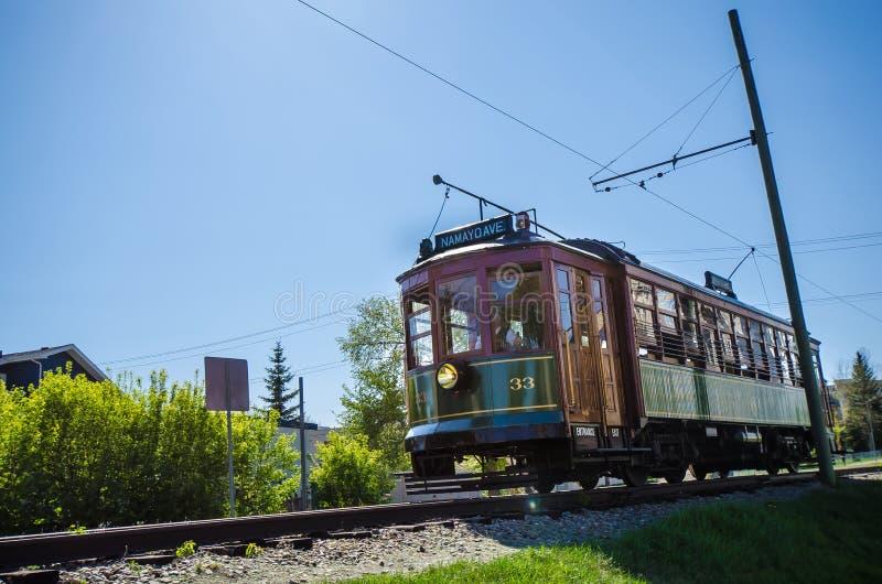 Edmonton High Level Railway Bridge Streetcar Stock Image ...