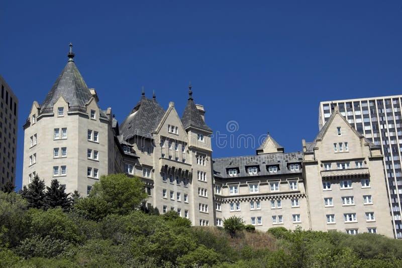 Edmonton hotel. Built in 1915, this is Edmonton's most famous landmark hotel along the Saskatchewan river stock photo