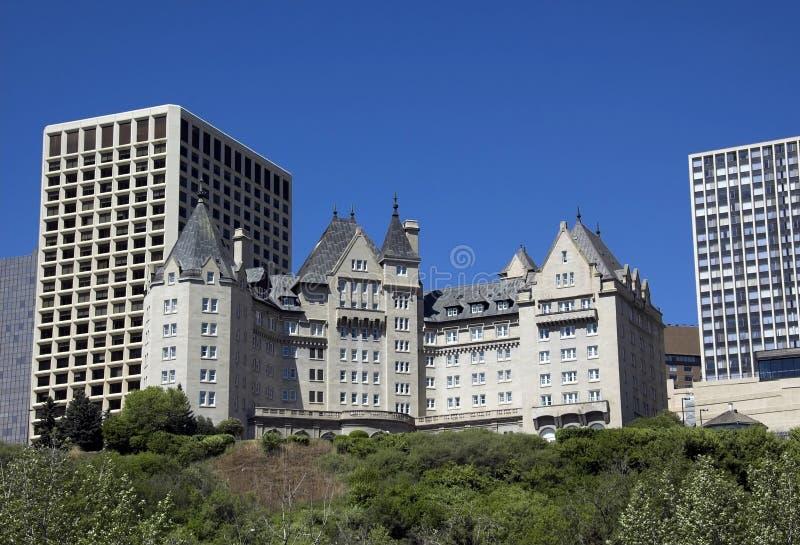 Edmonton hotel. Built in 1915, this is Edmonton's most famous landmark hotel along the Saskatchewan river stock images