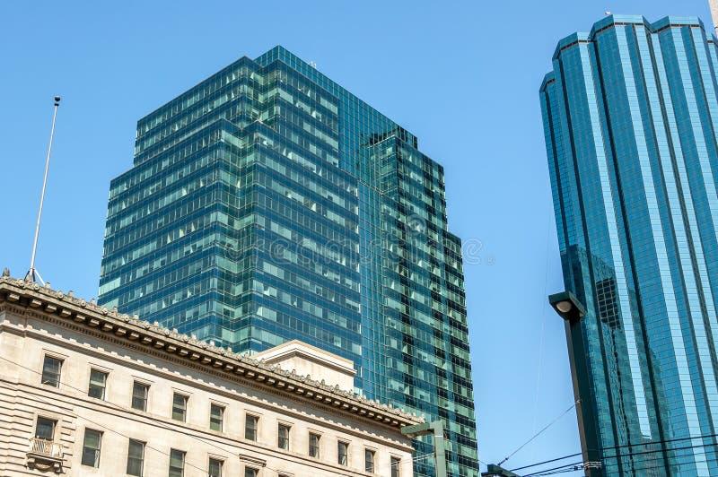 Edmonton skyline. Skyscrapers in Edmonton Alberta's city center royalty free stock images