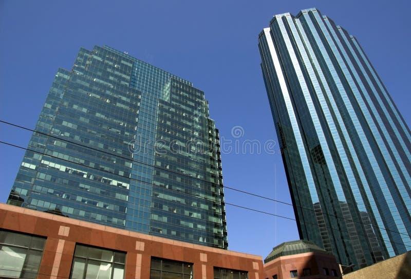 edmonton skyskrapor royaltyfri fotografi