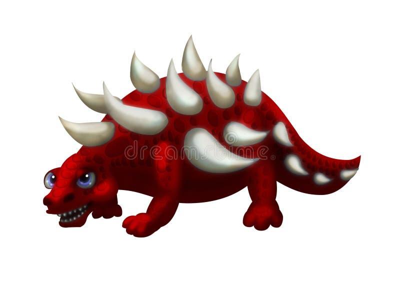 Edmontonia del dinosauro illustrazione di stock