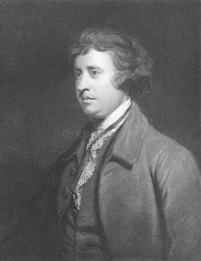 Edmund Burke stock afbeelding