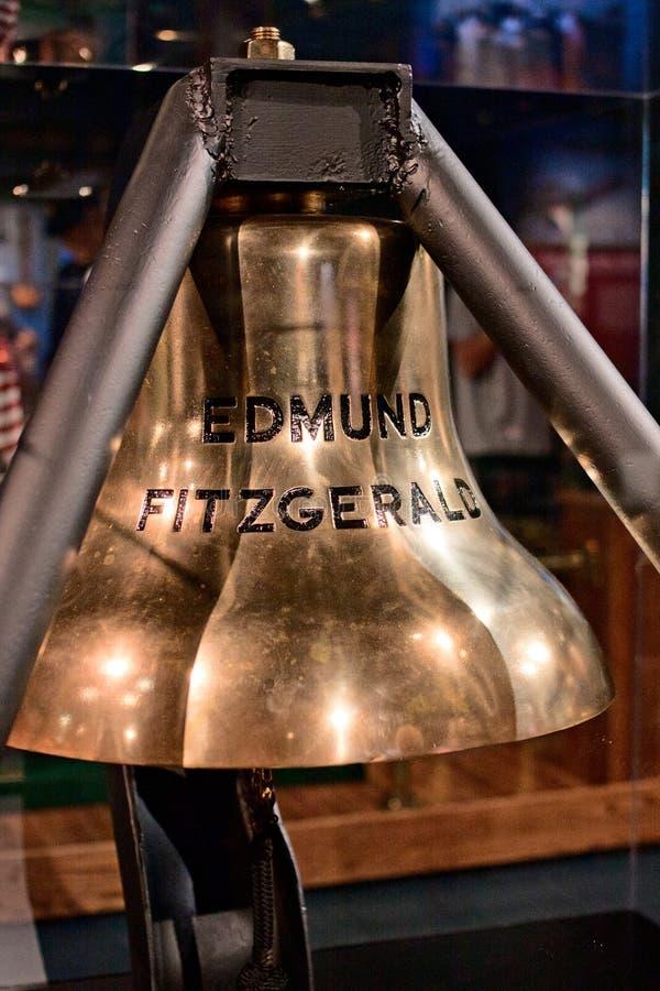 Edmund Fitzgerald Bell royalty-vrije stock afbeeldingen