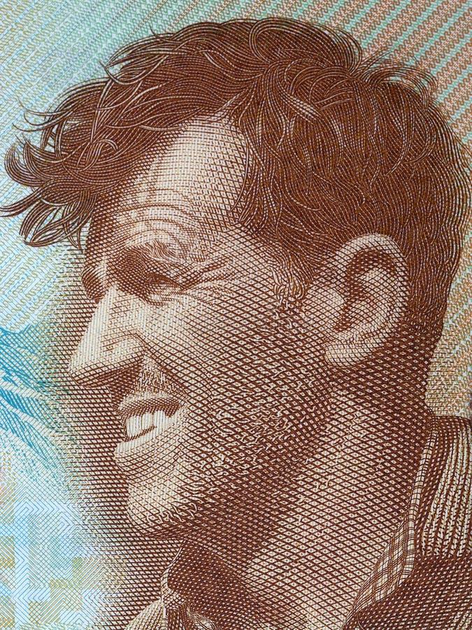 Edmund Hillary een portret stock afbeelding