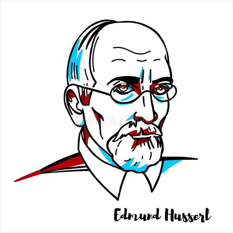 Edmund Husserl portret ilustracji